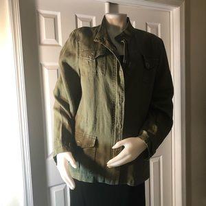 Jones New York Khaki Green Jacket Large